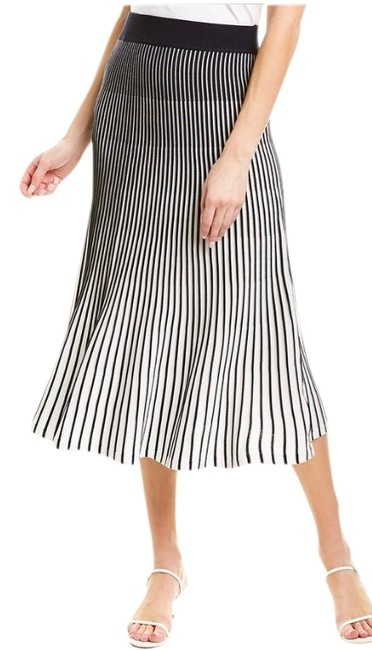 Item - Navy Blue and White Pleated Skirt Size 8 (M, 29, 30)