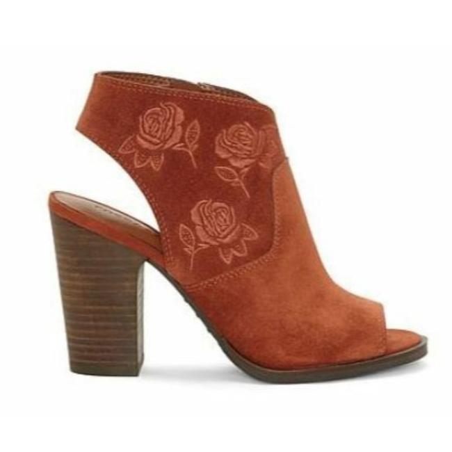 Lucky Brand Oak Red Listana Suede Embroidered Boots/Booties Size US 9.5 Regular (M, B) Lucky Brand Oak Red Listana Suede Embroidered Boots/Booties Size US 9.5 Regular (M, B) Image 1