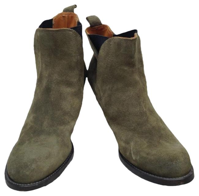 Item - Olive Green Wedged Ankle Boots/Booties Size EU 38.5 (Approx. US 8.5) Regular (M, B)