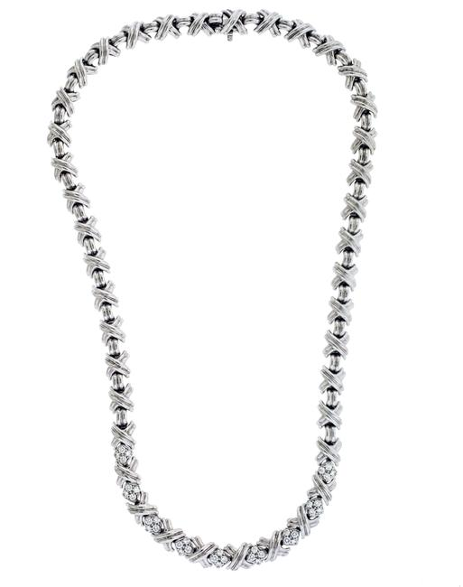 Item - White Gold Co Signature X Diamond Necklace