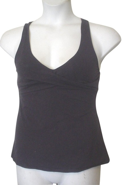 Item - Navy Jersey Vs Cross Strap At Bust and Back Knit with Shelf Bra Tank Top/Cami Size 10 (M)