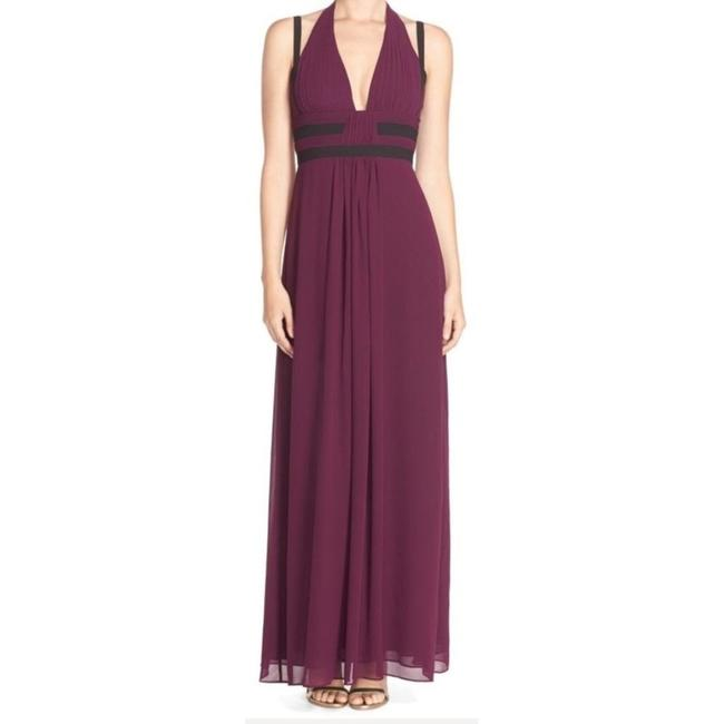 Item - Purple Margarette Contrast Trim Pleated Gown Long Formal Dress Size 10 (M)