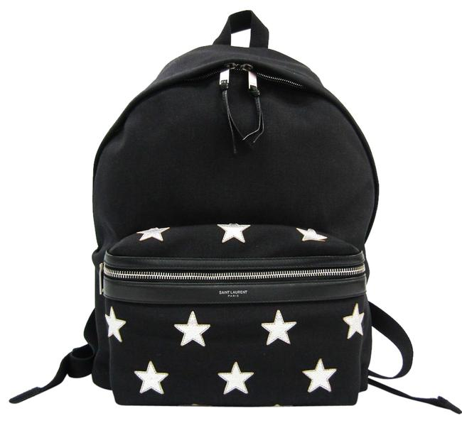 Item - City California Classic 437087 Unisex Black / Silver Canvas / Leather Backpack