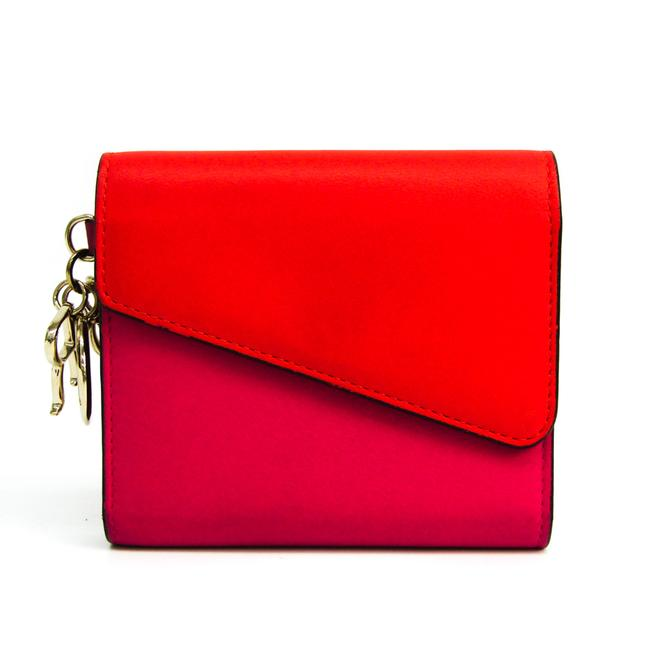 Item - Orange / Pink issimo Women's Leather (Tri-fold) Wallet