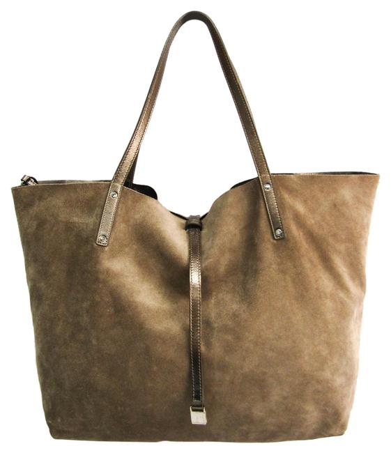 Item - Bag Reversible Women's Gold Brown Leather / Suede Tote