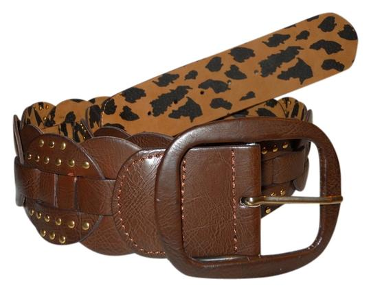 Preload https://item5.tradesy.com/images/betsey-johnson-brown-and-animal-print-s-faux-leather-studded-reversable-belt-2790229-0-0.jpg?width=440&height=440