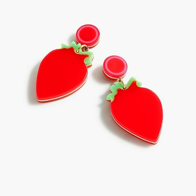 Item - Red and Green Eddie Parker Strawberry Resin Earrings