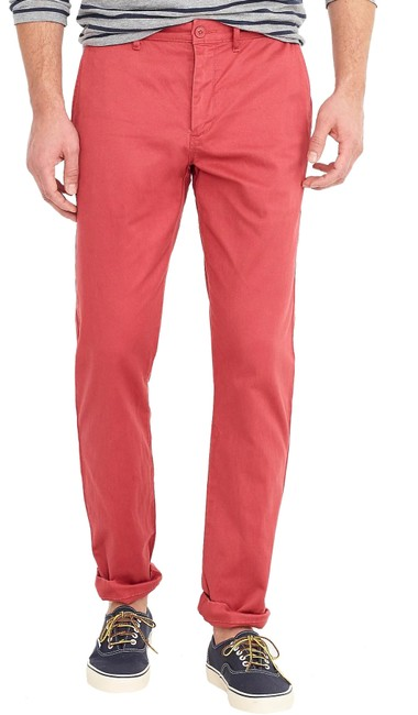Item - Red Men's Straight-fit Stretch Chino Pants Size 8 (M, 29, 30)