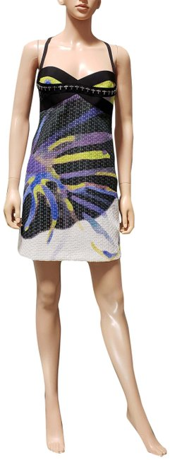 Item - White Multi S/S 2014 Look # 11 New Embellished 40 - Short Cocktail Dress Size 4 (S)