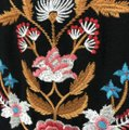 BY TOGETHER Black with Flowers Embroidered Short Casual Dress Size 8 (M) BY TOGETHER Black with Flowers Embroidered Short Casual Dress Size 8 (M) Image 3