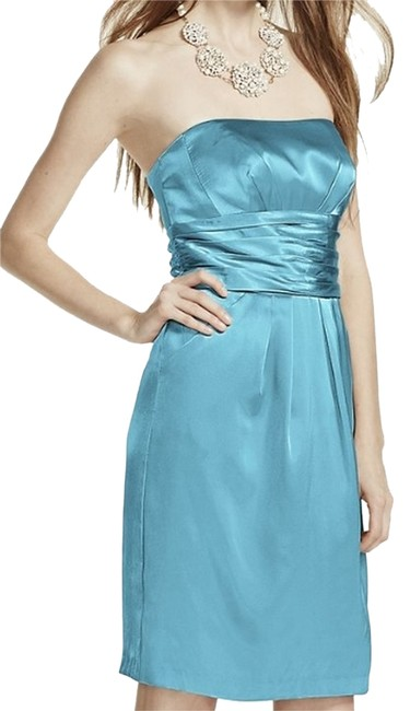 Preload https://item5.tradesy.com/images/david-s-bridal-pool-tiffany-blue-83707-short-charmeuse-with-ruched-waist-and-pocket-knee-length-cock-2790499-0-0.jpg?width=400&height=650