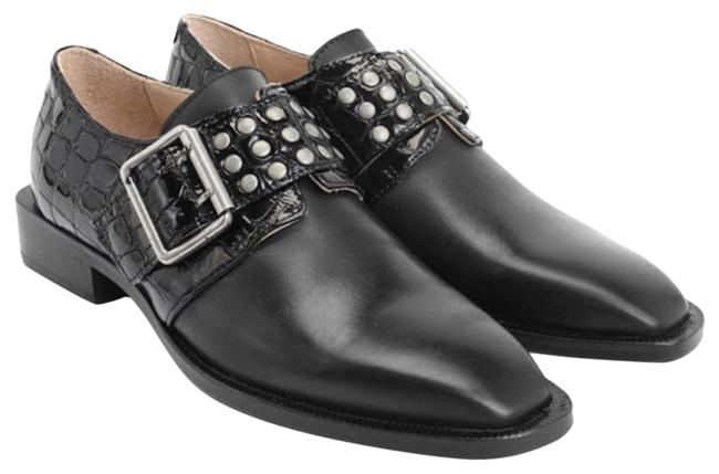 Item - Black Magnum Loafers Buckled with Patent Emboss Formal Shoes Size US 9.5 Regular (M, B)
