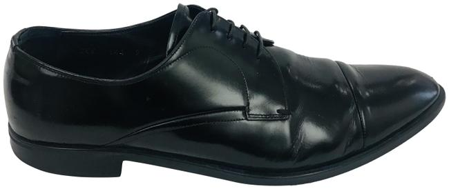 Item - Black Men Lace Up Oxfords Formal Shoes Size US 9 Extra Wide (Ww, Ee)