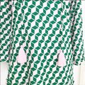 J.Crew Pink and Green Tasseled Tunic Cover-up/Sarong Size 00 (XXS) J.Crew Pink and Green Tasseled Tunic Cover-up/Sarong Size 00 (XXS) Image 2