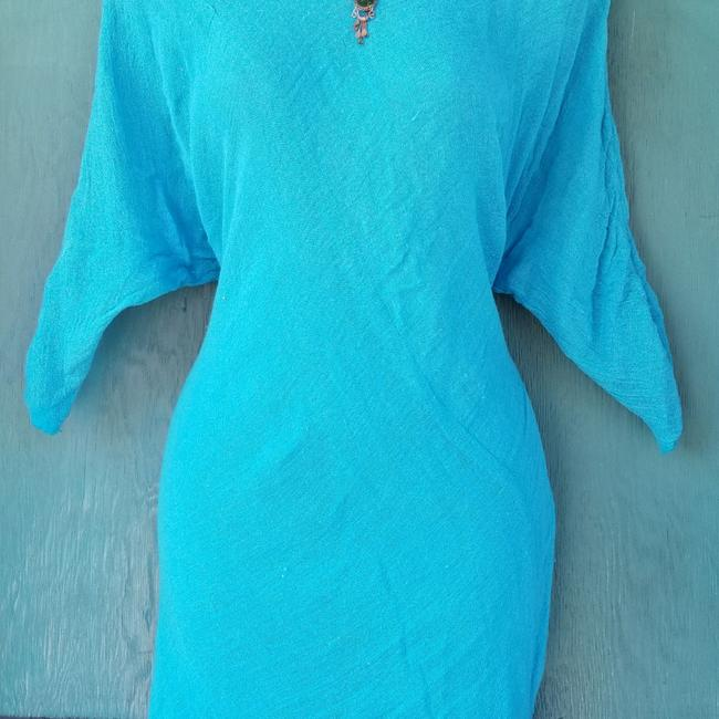 Item - Turquoise Asymmetrical Mid-length Casual Maxi Dress Size 2 (XS)