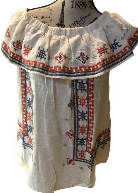 Item - Cream Nwot Embroidered Fiesta Blouse Size 8 (M)