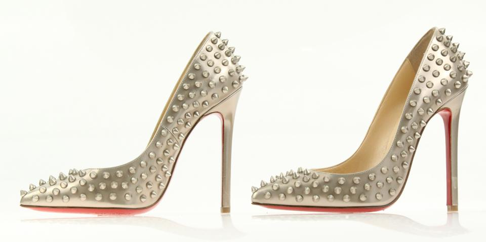 e81fa161af5 Christian Louboutin Gold Pigalle Spikes 120mm Pumps Size EU 37.5 (Approx.  US 7.5) Regular (M