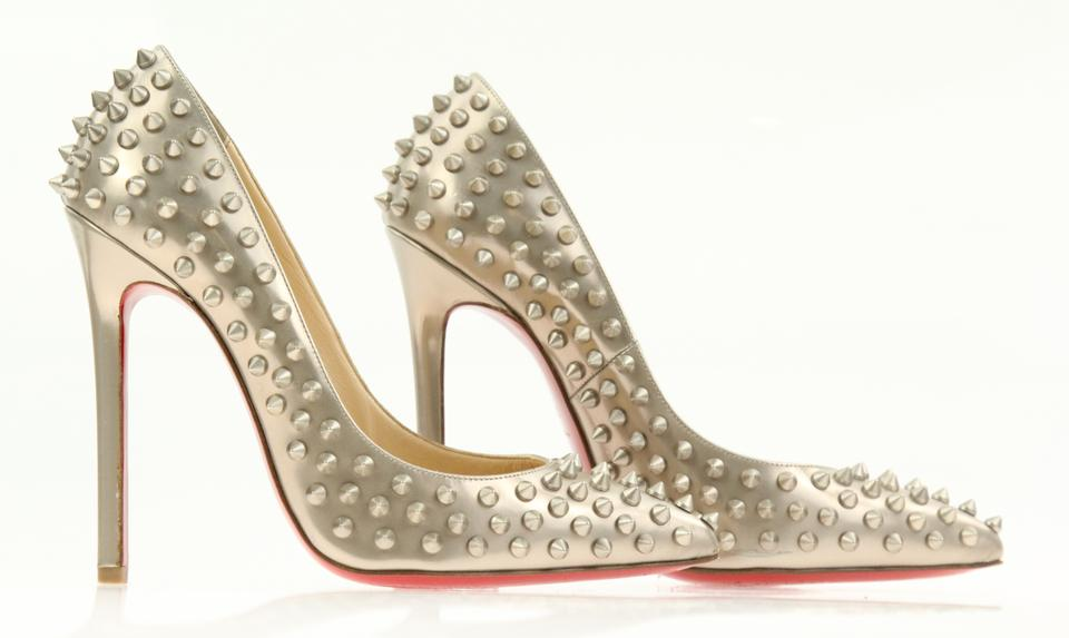 558106bef40 Christian Louboutin Studded Silver Pigalle Follies So Kate Gold Pumps Image  11. 123456789101112