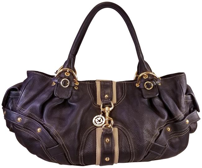 Item - Stunning Genuine Purse Gold Metals Black Leather Hobo Bag