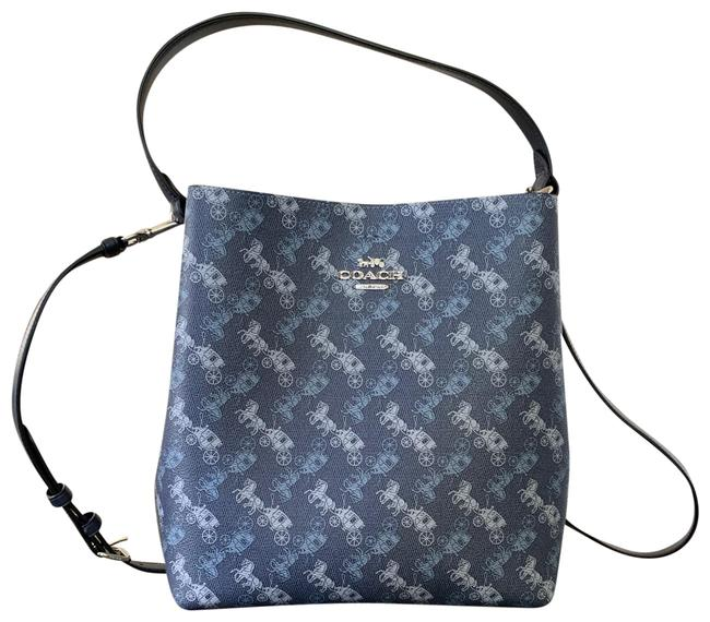 Item - Bucket Horse and Carriage Print Town Shoulder Bag