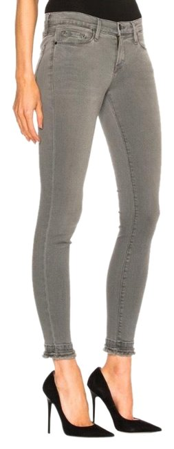 Item - Gray Light Wash Le De Jeanne Marview Double Hem Skinny Jeans Size 4 (S, 27)