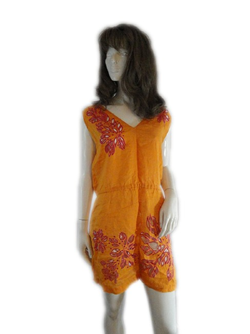 Item - Orange Orange/Hot Pink Suit Cover (Sku 000238-6) Cover-up/Sarong Size 8 (M)