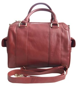 Zac Posen Classic Elegant Speedy Satchel in Red