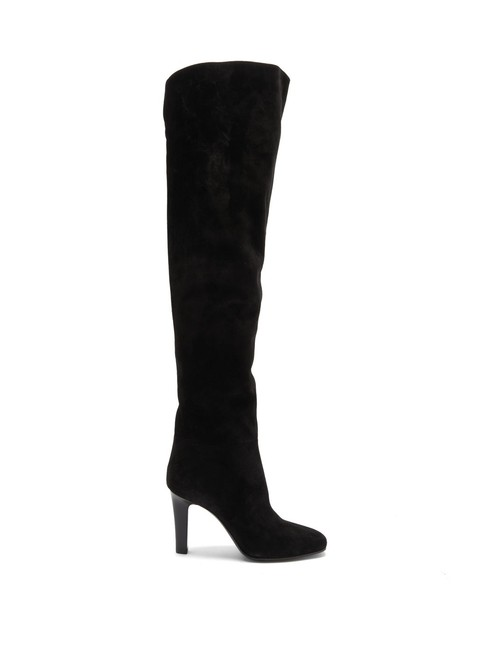 Item - Black Mf Blu Over-the-knee Suede Boots/Booties Size EU 40 (Approx. US 10) Regular (M, B)