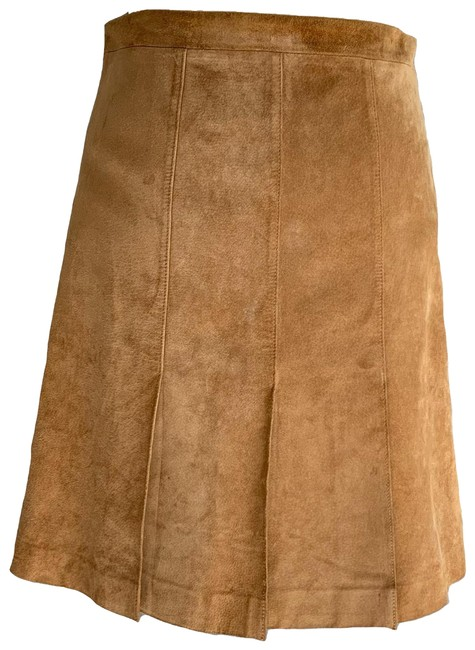 Item - Tan Camel Suede Leather Color Skirt Size Petite 4 (S)