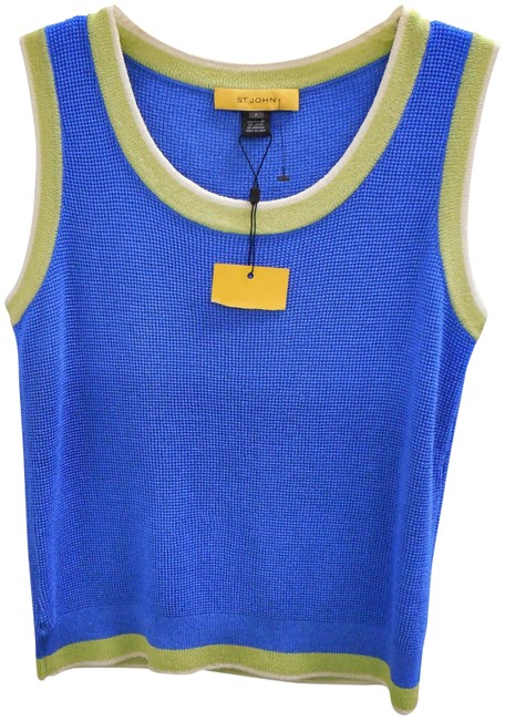 Item - Blue Green Santana Knit Shell Tank Top/Cami Size 0 (XS)