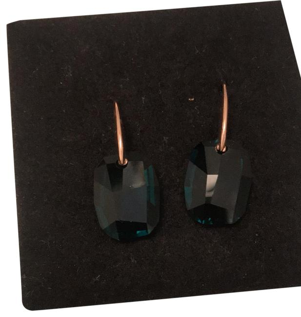 Item - Green Gold Crystal Doncia 234567 Earrings