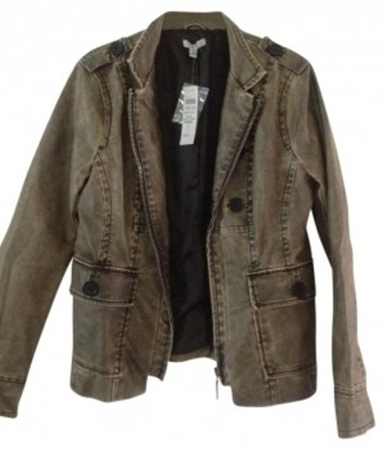 Preload https://item5.tradesy.com/images/cache-olive-green-distressed-leather-blazer-size-8-m-27909-0-0.jpg?width=400&height=650