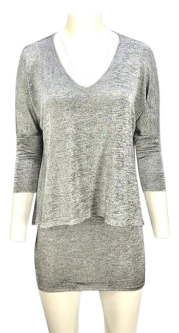 Item - Gray Heather Layered Mini Short Casual Dress Size 4 (S)