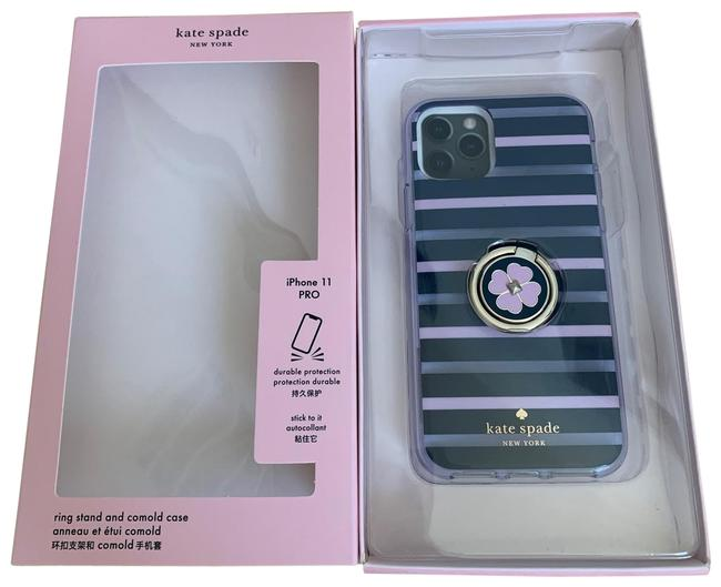 Item - Multicolor Iphone 11 Pro --- Stripe Resin Ring Stand and Comold Case Tech Accessory