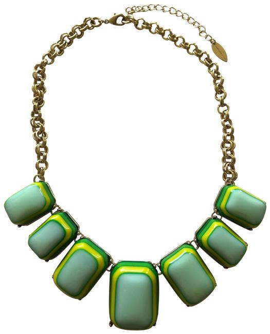 Item - Gold Green Tone Necklace