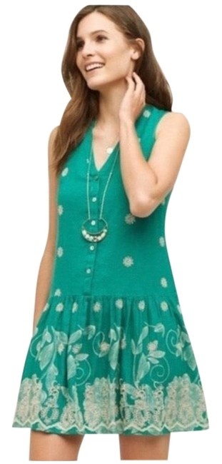 Item - Green Pippa By Maeve Short Casual Dress Size 6 (S)