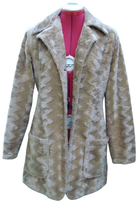 Item - Tan 70's Faux Jacket / Coat Size 8 (M)