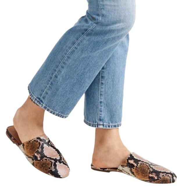 Item - Multi-color Cory In Snake Embossed Leather Mules/Slides Size US 9 Regular (M, B)