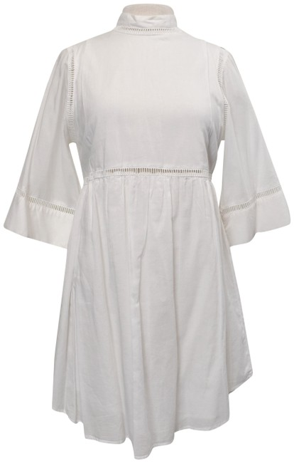 Item - White Cotton Small (4) Short Casual Dress Size 4 (S)