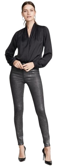 Item - Silver Coated Maria High Rise Skinny Jeans Size 30 (6, M)