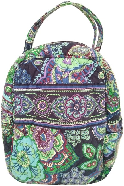 Item - Small Design Blue Green & Purple Cotton Backpack