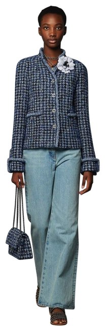 Item - Blue / Multi Spring/Summer 2020 Pre-collection Tweed Jacket Skirt Suit Size 8 (M)
