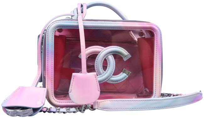 Chanel Camera Pink Multicolor Pvc and Leather Cross Body Bag Chanel Camera Pink Multicolor Pvc and Leather Cross Body Bag Image 1