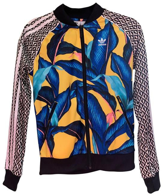 Item - Blue Yellow Leaf Track Activewear Outerwear Size 2 (XS)