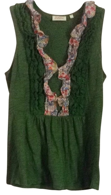 Anthropologie T Shirt Kelly Green Multi