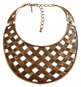 Oscar de la Renta OSCAR DE LA RENTAL AUTHENTIC NWT BASKETWEAVE COLLAR NECKLACE