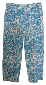 Talbots Capris Blue and white