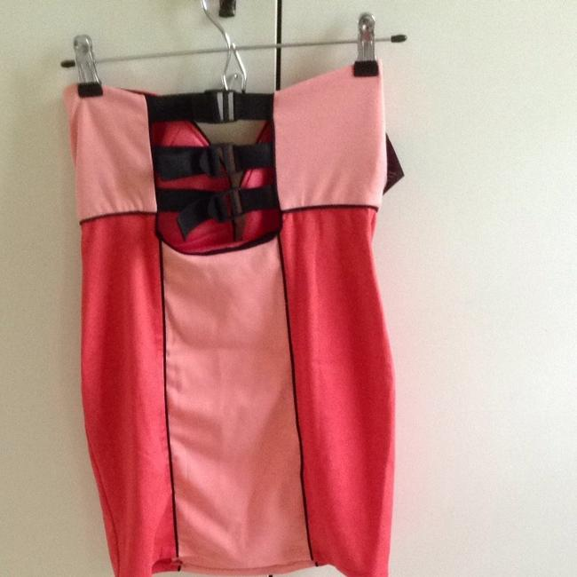 Nasty Gal short dress Multi Coral/peach/black on Tradesy