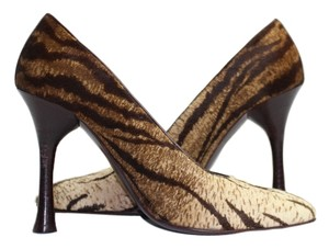 Charles Jourdan Zebra Print Pony Hair Calf Hide Pumps