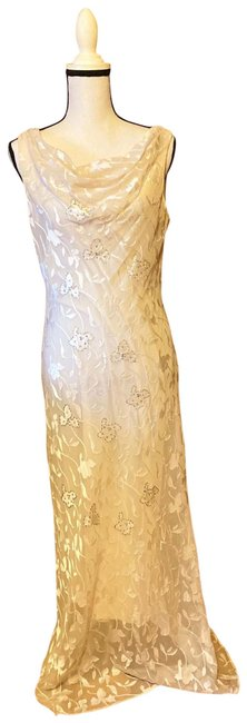 Item - Cream Formal Long Casual Maxi Dress Size 10 (M)